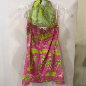 Lilly Pulitzer Dresses - Lilly Pulitzer flamingo palm tree dress size 14